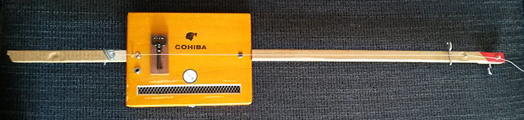 Handcraft Cohiba cigar box guitar made by One String Is Enough