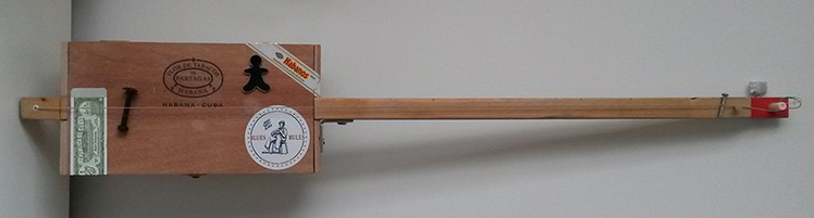 Handcraft cigar box guitar made by One String Is Enough